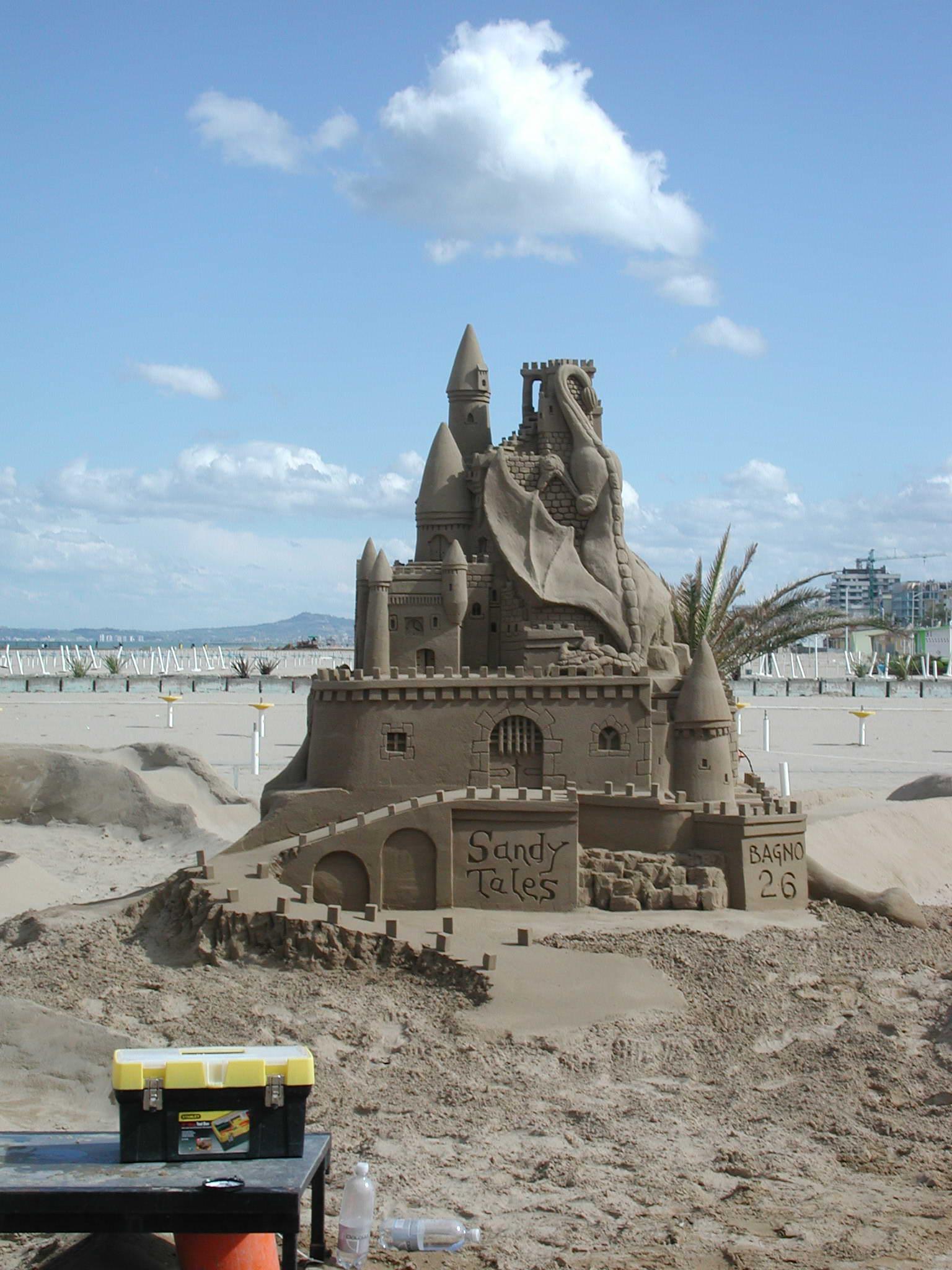 Rimini italy sand sculpture