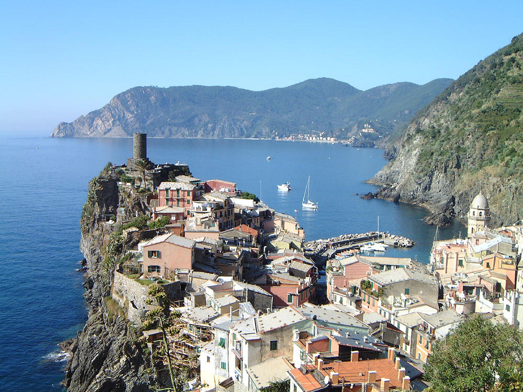 Romantic Holiday, Liguria, Italy, Cinque Terre panorama