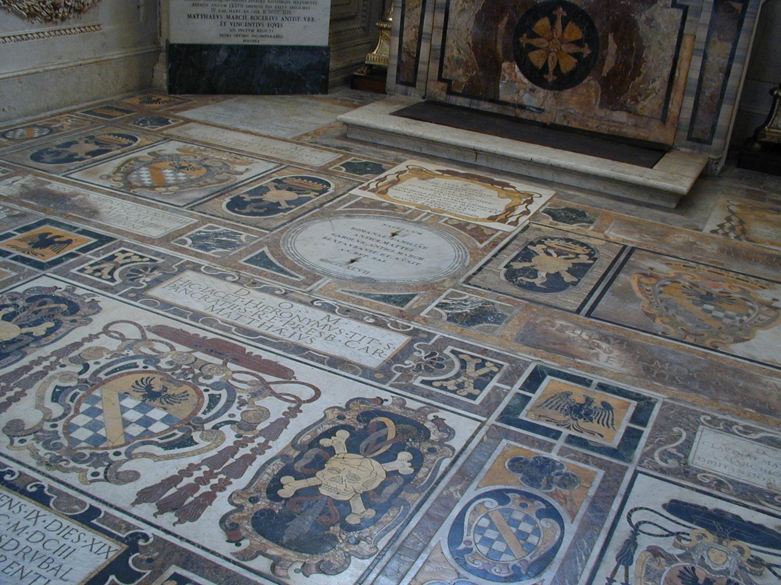 Rome, Italy, Santa Maria in Aracoeli floor design