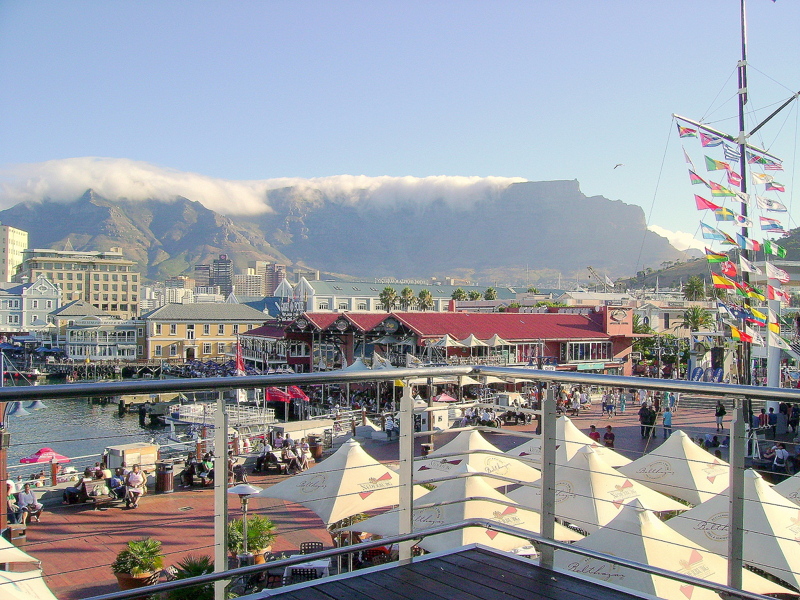 Cape Town, South Africa, Victoria and Alfred Waterfront harbor overview