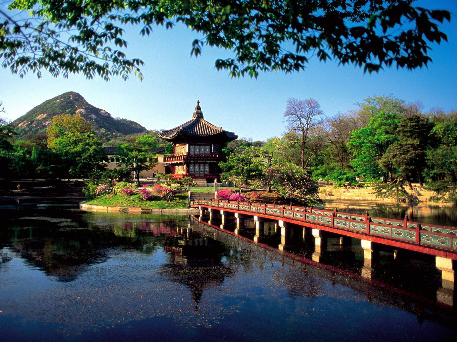 South Korea, Seoul, Hyangwonjong Pavilion Lake