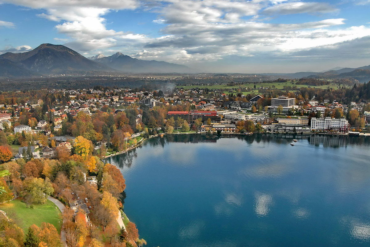 Stunning Places Holiday, Slovenia, Lake Bled, Cityscape view