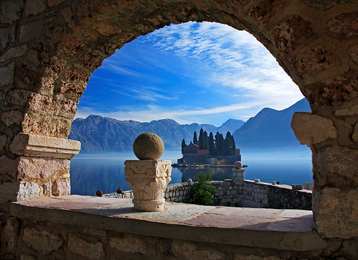 Stunning Places Holiday, Montenegro, Kotor Bay, Panoramic overview