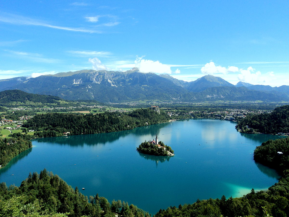 Stunning Places Holiday, Slovenia, Lake Bled, Aerial view
