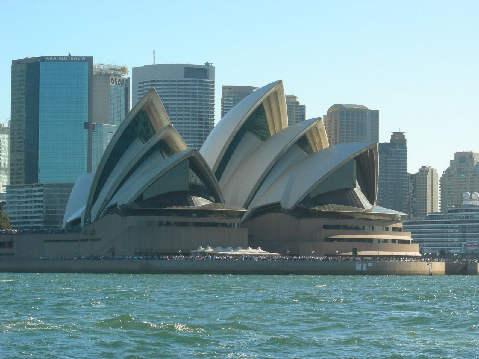 Sydney, Australia, Opera House with the city in background