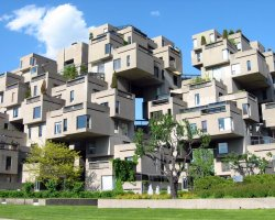 Montreal, Canada, Habitat 67, Side view