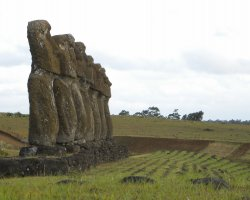 Easter Island, Chile, Easter Island Moai statues, Side overview