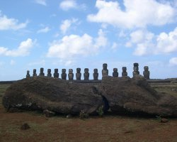 Easter Island, Chile, Easter Island Moai statues, Panoramic view