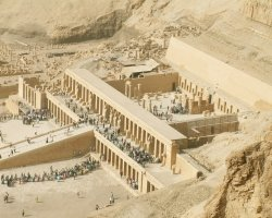 Egypt, Africa, Valley of the Kings, Luxor Hatchepsoot temple