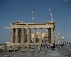 Grecee, Europe, The Parthenon real site greece - construction site
