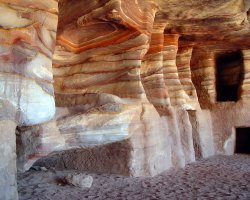 Petra, Jordan, Sandstone Rock-cut tombs
