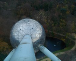 Brussels, Belgium, Atomium view from the top