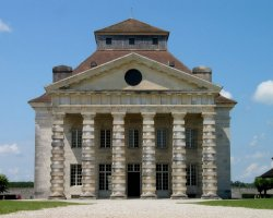 Besancon, France, Saltworks of Arc-et-Senans central building facade