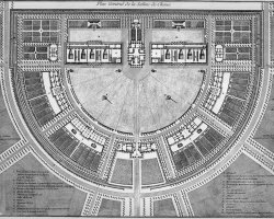 Besancon, France, Saltworks of Arc-et-Senans, Plan de la saline royale