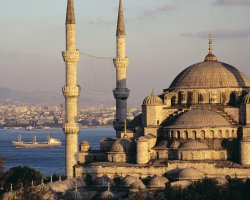 Istanbul, Turkey, Blue Mosque and the Bosphorus