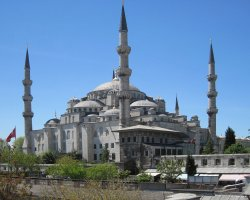 Istanbul, Turkey, Blue Mosque overview