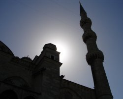 Istanbul, Turkey, Blue Mosque silhouette