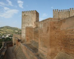 Granada, Spain, Alhambra walls overview