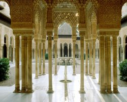 Granada, Spain, Alhambra, Court of the Lions