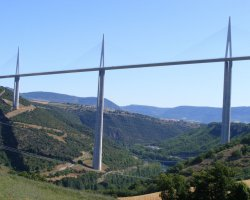 Millau, France, Millau Bridge side view