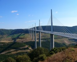 Millau, France, Millau Viaduct on a sunny day