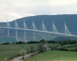 Millau, France, Millau Viaduct panoramic view
