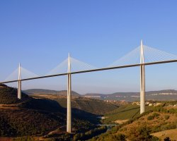 Millau, France, Millau Viaduct side view