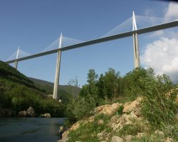 Millau, France, Millau Viaduct viewfrom bellow