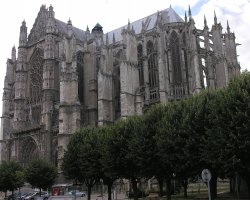 Beauvais, France, Beauvais Cathedral, SE exterior view