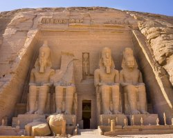 Abu Simbel, Nubia, Egypt, Temple of Ramsses II enterance
