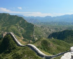 China, Asia, The Great Wall oveview on a sunny day