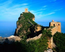 China, Asia, The Great Wall against nature