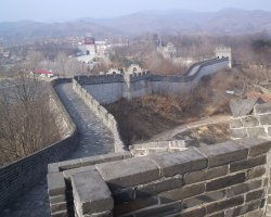 China, Asia, The Great Wall side view