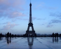 France, Europe, Eiffel Tower Paris at evening