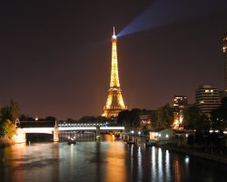 France, Europe, Eiffel Tower Paris at night