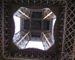 France, Europe, Eiffel Tower Paris, Underneath view