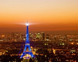 France, Europe, Eiffel Tower Paris, View from La Tour Montparnasse