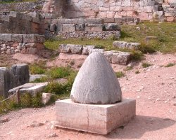 Greece, Europe, Omphalos at Delphi