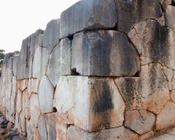 Greece, Europe, The polygonal wall of Delphi