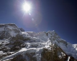 Nepal, Asia, Sun over the Mount Everest summit