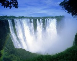 Zimbabwe, Africa, Victoria Falls side view