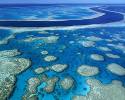 Australia, Oceania, Great Barrier Reef Marine Park panoramic view