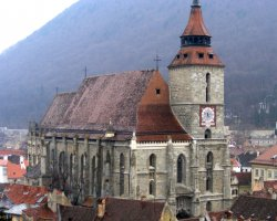 Brasov, Romania, Black Church panoramic view