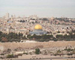 Jerusalem, Israel, Dome of the Rock panoramic view