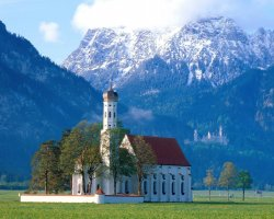 Germany, Europe, Bavarian Forest St Coloman church near Fussen