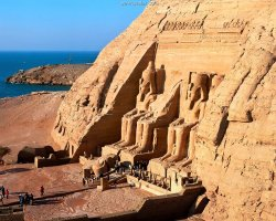Abu Simbel, Nubia, Egypt, Entrance overview