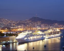 Acapulco, Mexico, Mexico City port with cruises