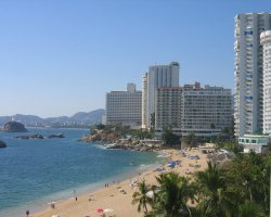 Acapulco, Mexico, Beach overview