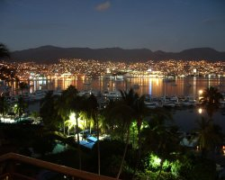 Acapulco, Mexico,  City by night