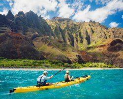 Active Holiday, Kauai, Hawaii, Kayaking on the napali coast